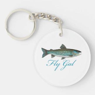 Fly Fishing Women Key Ring