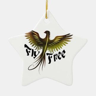 Fly Free Ceramic Ornament