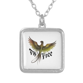 Fly Free Silver Plated Necklace