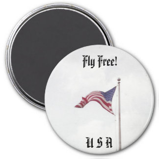 Fly Free USA Flag - magnet