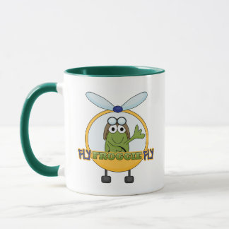 Fly Froggie Fly Helicopter Tshirts and Gifts Mug