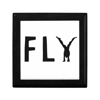Fly funny text and human design gift box