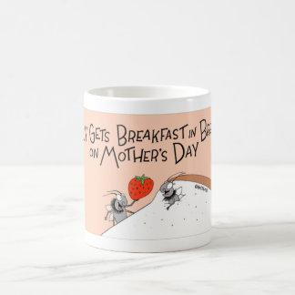 Fly gets breakfast in bed coffee mug