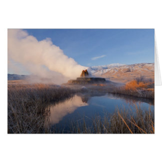Fly Geyser with snow capped Granite Range 4 Card