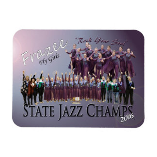 """Fly Girls State Jazz Champions 3x4"""" photo magnet"""
