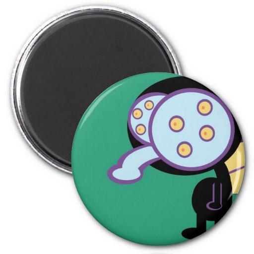 Fly graphic cartoon refrigerator magnet