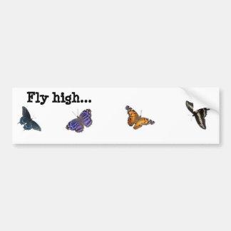 Fly high butterfly bumper sticker
