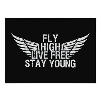 FLY HIGH custom invitation