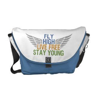 FLY HIGH custom messenger bag
