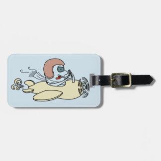 Fly high design  Luggage Tag w/ leather strap