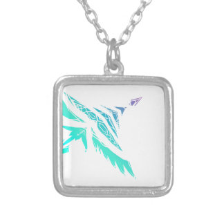 Fly High (Icy) Silver Plated Necklace