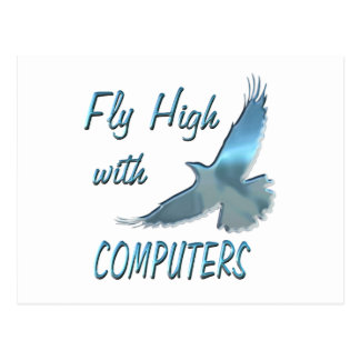 Fly High with Computers Post Card