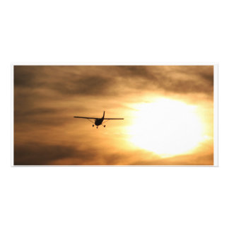 Fly Into The Sunset Custom Photo Card