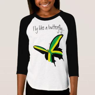 Fly like a Butterfly Jamaican Raglan T-shirt