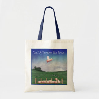 Fly Like A Pig-Be Different, Be Free Tote Bag