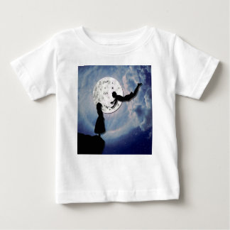 fly me to the moon paper cut universe baby T-Shirt