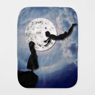 fly me to the moon paper cut universe burp cloth