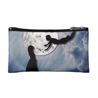 fly me to the moon paper cut universe cosmetic bag