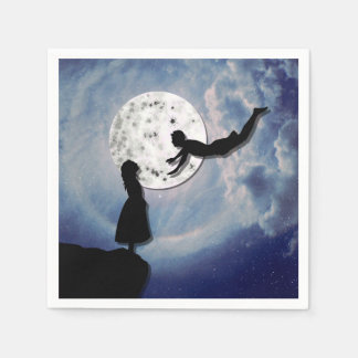fly me to the moon paper cut universe disposable napkin