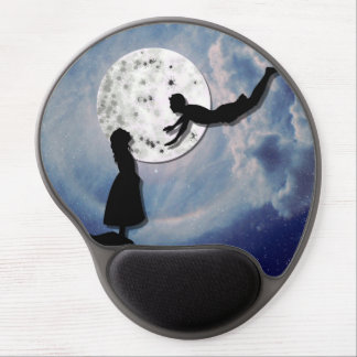 fly me to the moon paper cut universe gel mouse pad