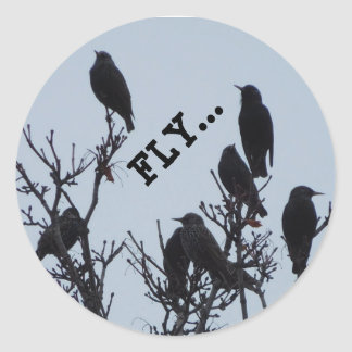 fly mini stickers