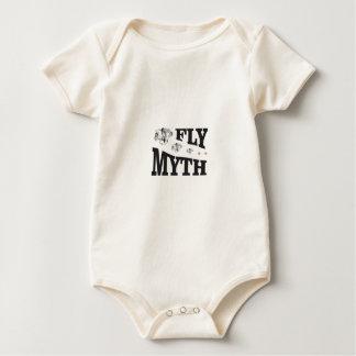 fly myth horses baby bodysuit