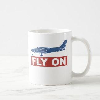 Fly On - Airplane Basic White Mug