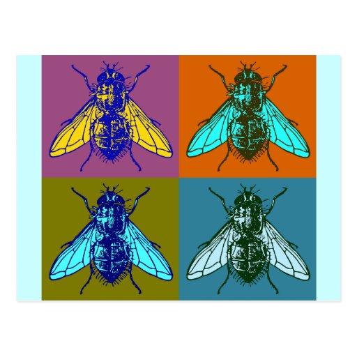 Fly Pop Art Post Card