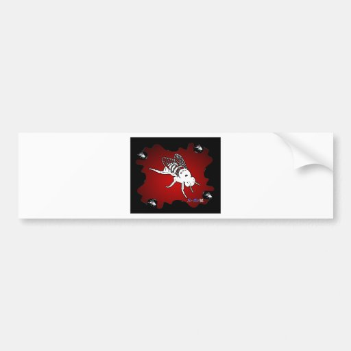 FLY RED BACKGROUND PRODUCTS BUMPER STICKER