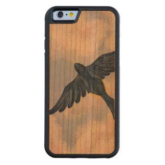 FLY, ROBIN, FLY! (a bird design) ~ Cherry iPhone 6 Bumper Case