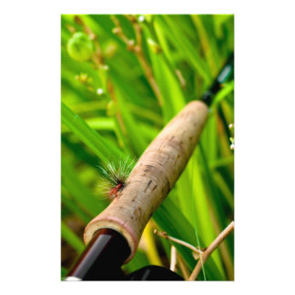 Fly Rod with Fly on Handle Stationery