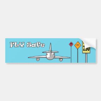 Fly Safe Bumper Sticker