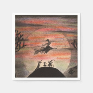 Fly Safe Halloween Party Paper Napkins