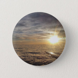 fly the heavenly skies 6 cm round badge