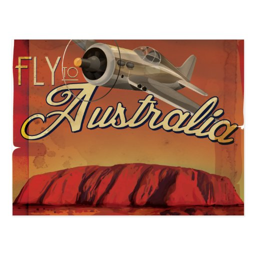 Fly To Australia Post Cards