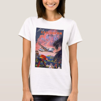 Fly To Caribbean Vintage T-Shirt
