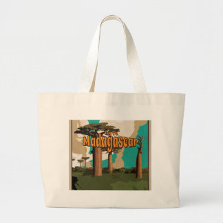 Fly to Madagascar Vintage Vacation Poster Bag