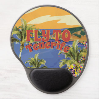 Fly To Tenerife Vintage Travel Poster Gel Mouse Pad