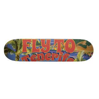 Fly To Tenerife Vintage Travel Poster Skate Deck