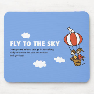 FLY TO THE SKY MOUSE PAD