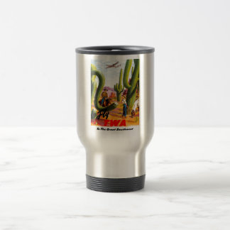 Fly TWA to the Great Southwest! Stainless Steel Travel Mug