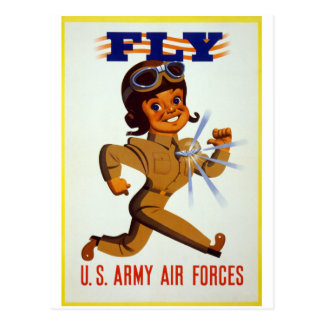 Fly - U.S. Army Air Forces Postcard