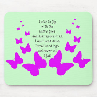 Fly With Butterflies Mouse Pad