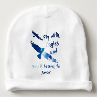 Fly with eagles baby beanie