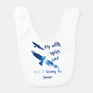 Fly with eagles bib