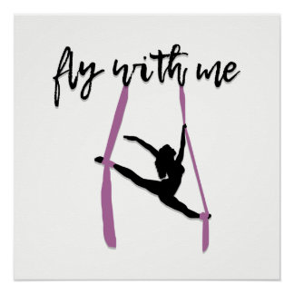 """""""Fly With Me"""" Aerial Silks Art Print"""