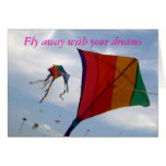 Fly with your dreams greeting card