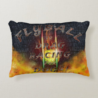 Flyball Flamz: Drag Racing for Dogs! Decorative Cushion