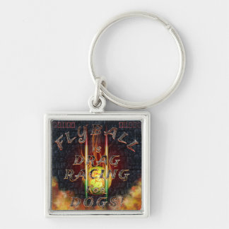 Flyball Flamz: Drag Racing for Dogs! Key Ring