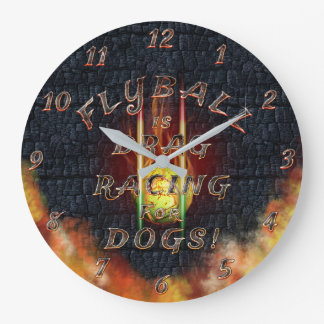 Flyball Flamz: Drag Racing for Dogs! Large Clock